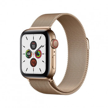 Смарт-часы Apple Watch Series 5 + LTE 40mm Gold Stainless Steel Case with Gold Milanese Loop