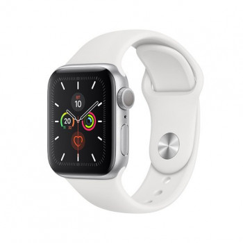 Смарт-часы Apple Watch Series 5 40mm Silver Aluminum Case with White Sport Band