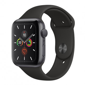 Смарт-годинник Apple Watch Series 5 44mm Space Gray Aluminum Case with Black Sport Band