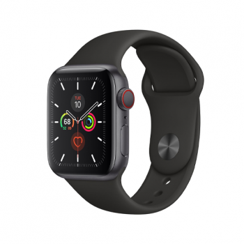 Смарт-часы Apple Watch Series 5 + LTE 40mm Space Gray Aluminum Case with Black Sport Band