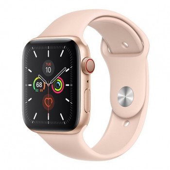 Смарт-часы Apple Watch Series 5 + LTE 44mm Gold Aluminum Case with Pink Sand Sport Band