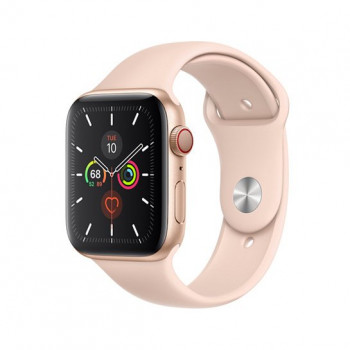 Смарт-часы Apple Watch Series 5 + LTE 40mm Gold Aluminum Case with Pink Sand Sport Band