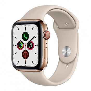 Смарт-часы Apple Watch Series 5 + LTE 44mm Gold Stainless Steel Case with Stone Sport Band