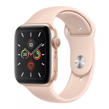Смарт-годинник Apple Watch Series 5 44mm Gold Aluminum Case with Pink Sand Sport Band