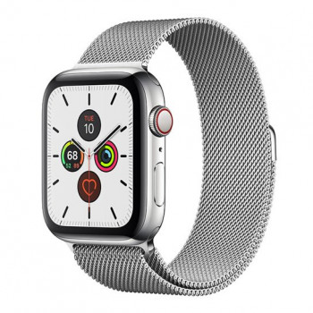 Смарт-часы Apple Watch Series 5 + LTE 44mm Stainless Steel Case with Silver Milanese Loop