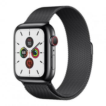 Смарт-часы Apple Watch Series 5 + LTE 44mm Space Black Stainless Steel Case with Black Milanese Loop