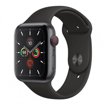 Смарт-часы Apple Watch Series 5 + LTE 44mm Space Gray Aluminum Case with Black Sport Band