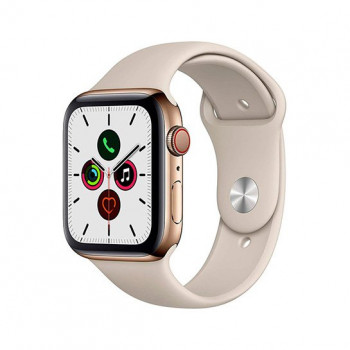 Смарт-часы Apple Watch Series 5 + LTE 40mm Gold Stainless Steel Case with Stone Sport Band