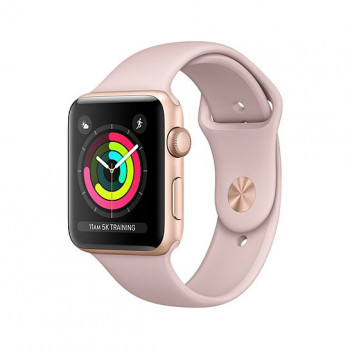 Смарт Часы Apple Watch Series 3 38mm Gold Aluminum Case with Pink Sand Sport Band