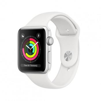 Смарт Часы Apple Watch Series 3 38mm Silver (Серебристый) Aluminum Case with White Sport Band