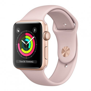 Смарт Часы Apple Watch Series 3 42mm Gold Aluminum Case with Pink Sand Sport Band