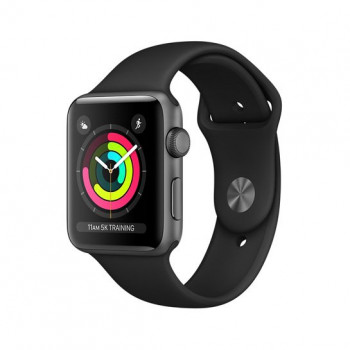 Смарт Часы Apple Watch Series 3 38mm Space Gray Aluminum Case with Black Sport Band
