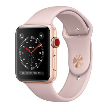 Смарт Часы Apple Watch Series 3 + LTE 42mm Gold Aluminum Case with Pink Sand Sport Band