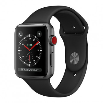 Смарт Часы Apple Watch Series 3 + LTE 42mm Space Gray Aluminum Case with Black Sport Band