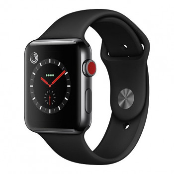 Смарт Часы Apple Watch Series 3 + LTE 42mm Space Black Stainless Steel Case with Black Sport Band