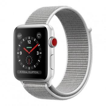 Смарт Часы Apple Watch Series 3 + LTE 42mm Silver Aluminum Case with Seashell Sport Loop