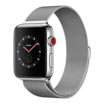 Смарт Часы Apple Watch Series 3 + LTE 42mm Stainless Steel Case with Milanese Loop