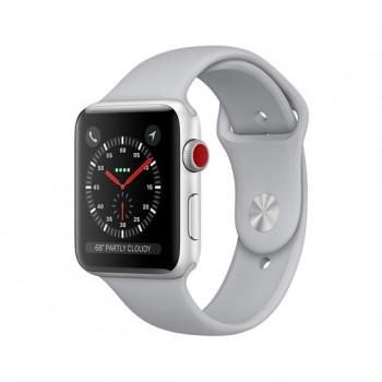 Смарт Часы Apple Watch Series 3 + LTE 38mm Silver Aluminum Case with Fog Sport Band