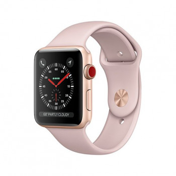 Смарт Часы Apple Watch Series 3 + LTE 38mm Gold Aluminum Case with Pink Sand Sport Band