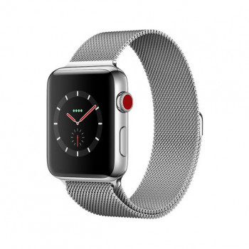 Смарт Часы Apple Watch Series 3 + LTE 38mm Stainless Steel Case with Milanese Loop