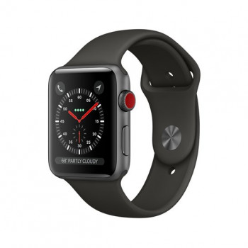 Смарт Часы Apple Watch Series 3 + LTE 38mm Space Gray Aluminum Case with Gray Sport Band