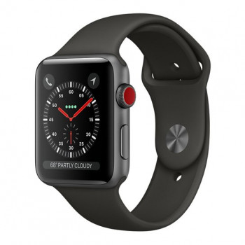 Смарт Часы Apple Watch Series 3 + LTE 42mm Space Gray Aluminum Case with Gray Sport Band