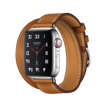 Смарт-часы Apple Watch Hermes Series 4 + LTE 40mm Stainless Steel Case with Bareni Leather Tour Band