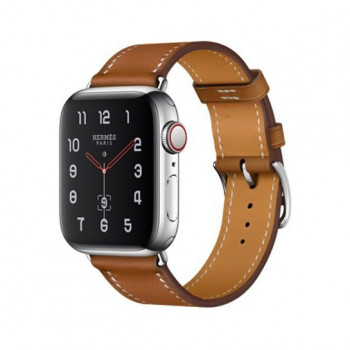 Смарт-часы Apple Watch Hermes Series 4+LTE 40mm Stainless Steel Case with Fauve Grained Leather Band