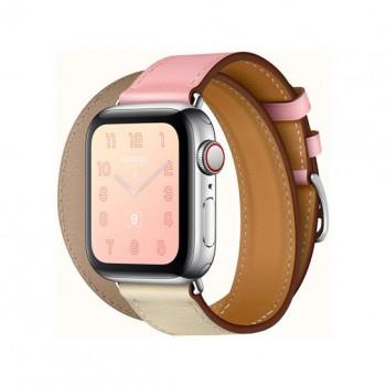 Смарт-часы Apple Watch Hermes Series 4+LTE 40mm Stainless Steel Rose Sakura/Craie/Argile Double Tour