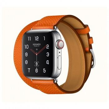 Смарт-часы Apple Watch Hermes Series 4 + LTE 40mm Stainless Steel Feu Epsom Leather Double Tour