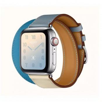 Смарт-часы Apple Watch Hermes Series 4 + LTE 40mm Stainless Steel Bleu Lin/Craie/Bleu du Nord Swift