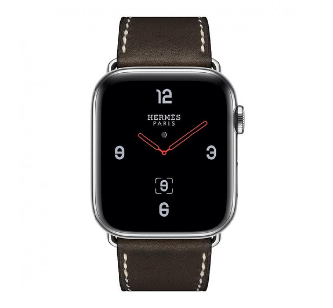 Смарт-годинник Apple Watch Hermes Series 4 + LTE 44mm Stainless Steel Case with Fauvei Leather Tour Band