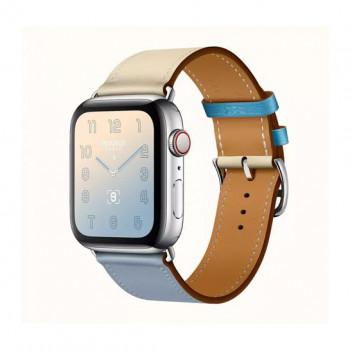 Смарт-часы Apple Watch Hermes Series 4 + LTE 44mm Stainless Steel Bleu Lin/Craie/Bleu du Nord Swift