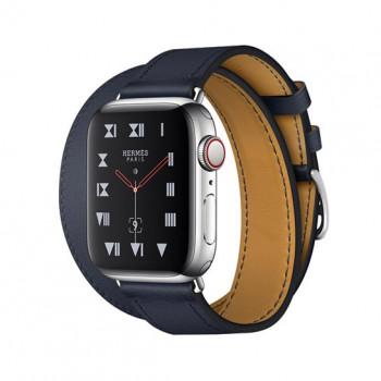 Смарт-часы Apple Watch Hermes Series 4+LTE 40mm Stainless Steel Case with Bleu Indigo Swift Leather