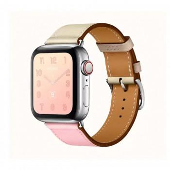 Смарт-часы Apple Watch Hermes Series 4+LTE 40mm Stainless Steel Rose Sakura/Craie/Argile Single Tour