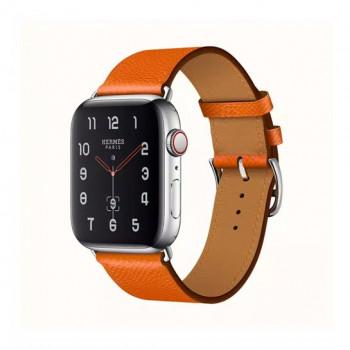 Смарт-часы Apple Watch Hermes Series 4 + LTE 44mm Stainless Steel Feu Epsom Leather Single Tour