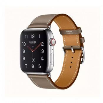 Смарт-часы Apple Watch Hermes Series 4 + LTE 44mm Stainless Steel Etoupe Swift Leather Single Tour