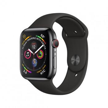 Смарт-часы Apple Watch Series 4 + LTE 40mm Black Stainless Steel with Black Sport Band