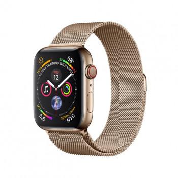 Смарт-часы Apple Watch Series 4 + LTE 40mm Gold (Золотой) Stainless Steel with Gold Milanese Loop